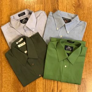 Men's dress shirts, 4 pack